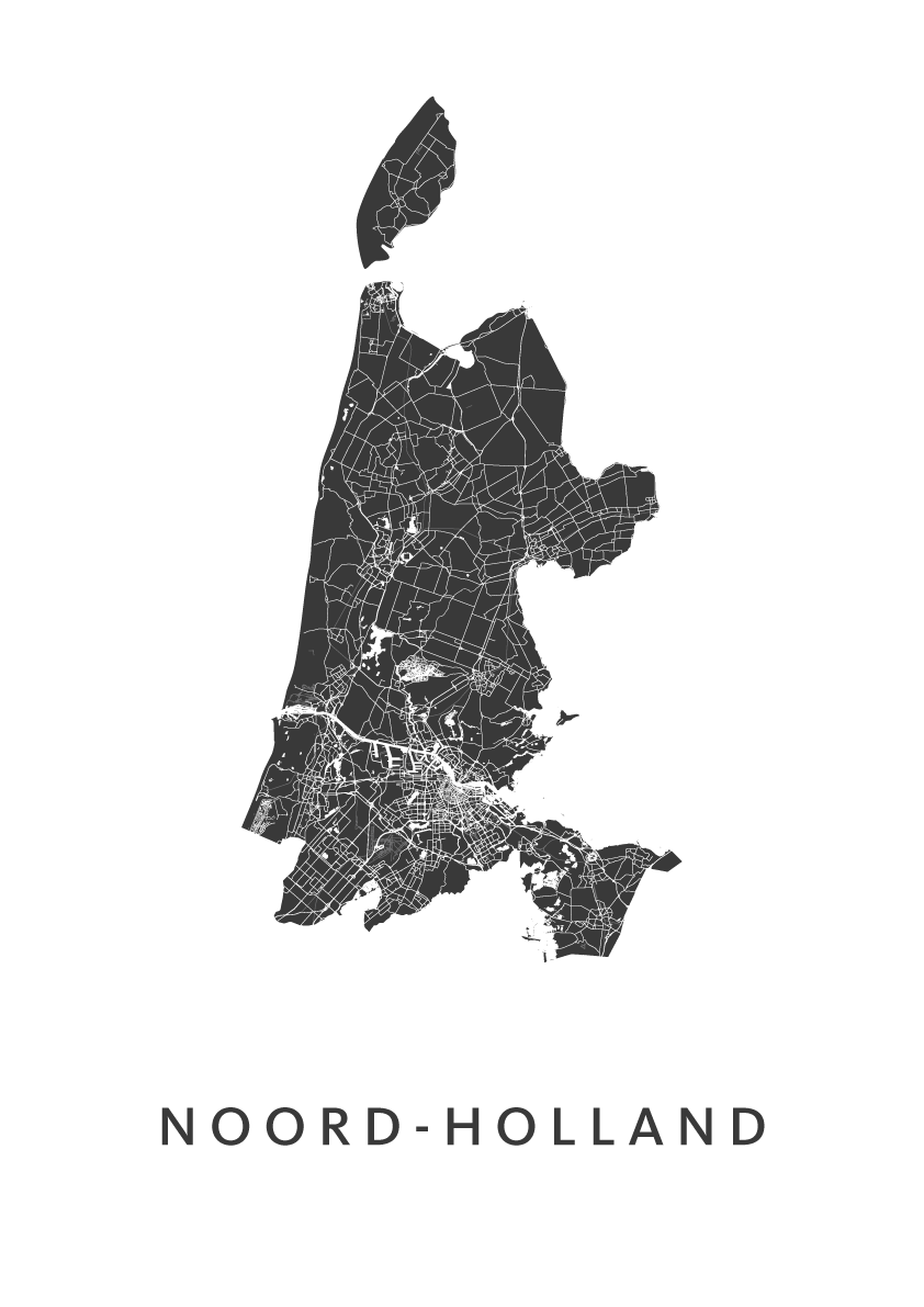 Noord-Holland Provinciekaart