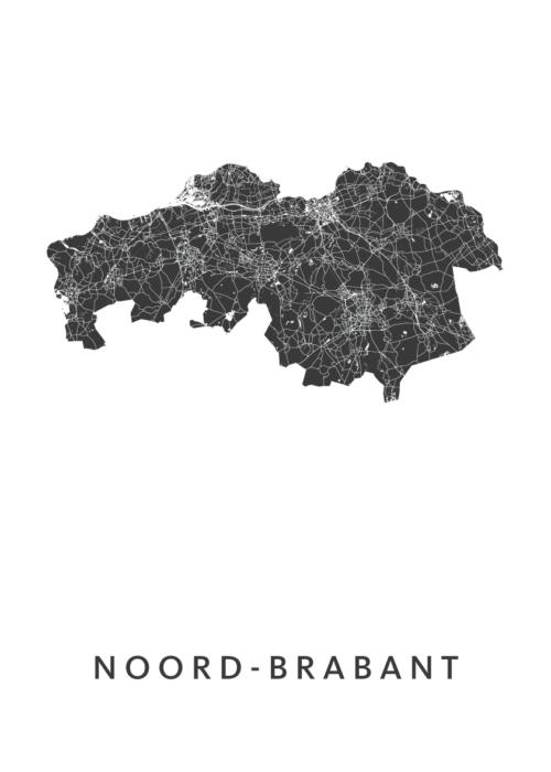 Noord-Brabant Provinciekaart