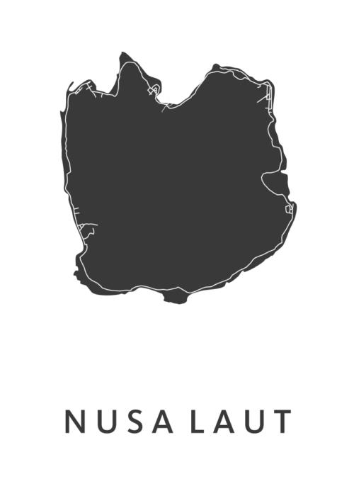 Nusa Laut White City Map