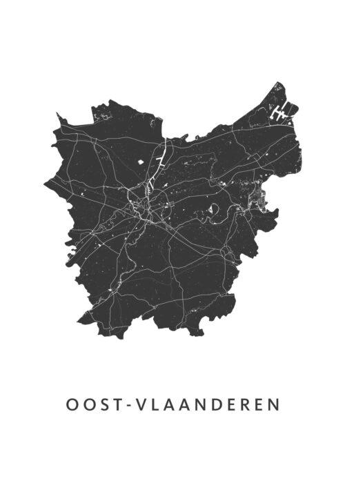 Oost-Vlaanderen Provinciekaart Poster