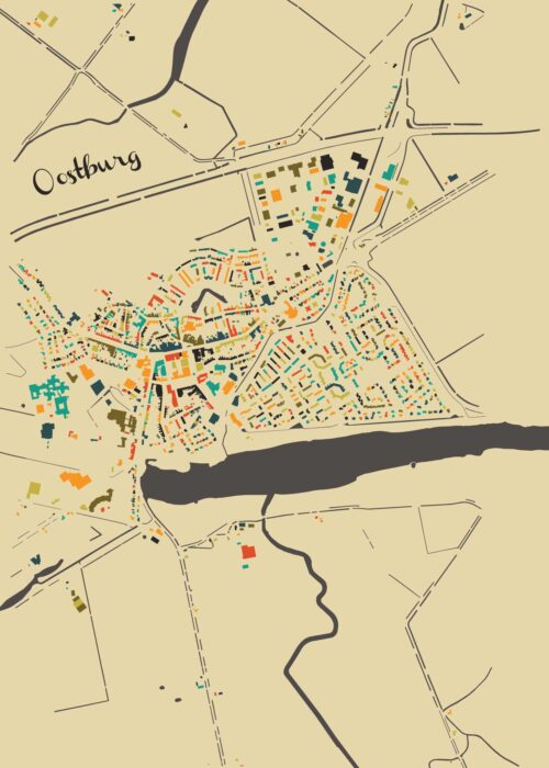 Oostburg Autumn Mosaic Map