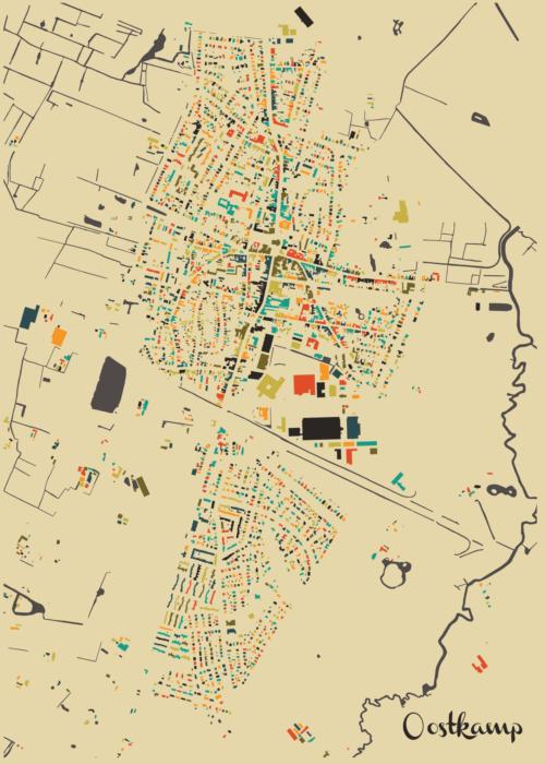 Oostkamp Autumn Mosaic Map