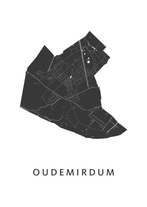 Oudemirdum Stadskaart poster | Kunst in Kaart