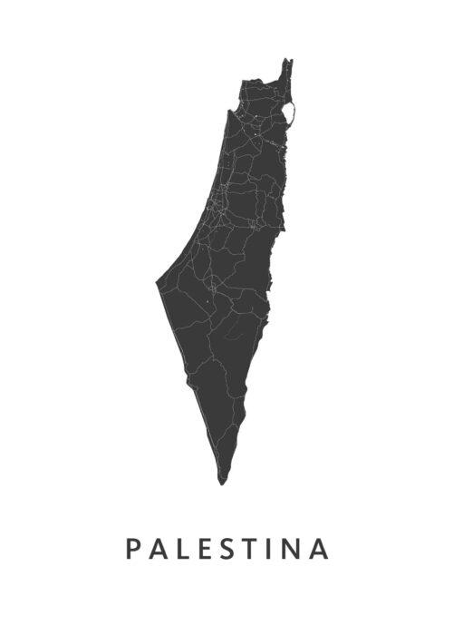Palestina Landkaart