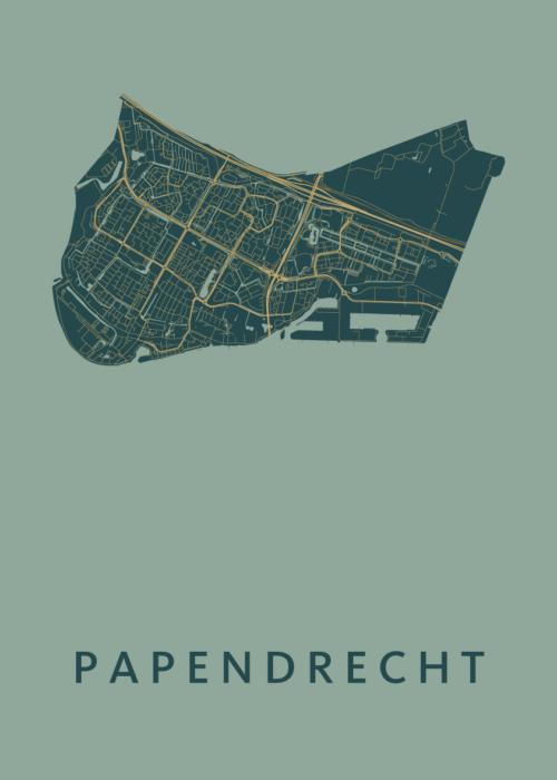 Papendrecht Amazon Stadskaart Poster | Kunst in Kaart