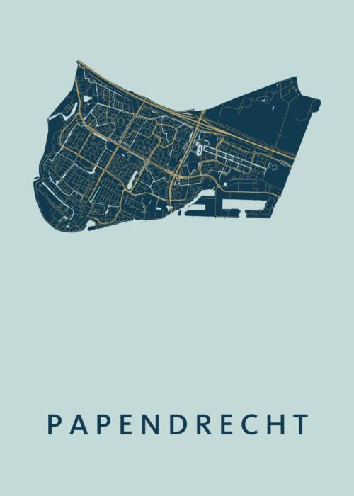 Papendrecht Prussian Stadskaart Poster | Kunst in Kaart