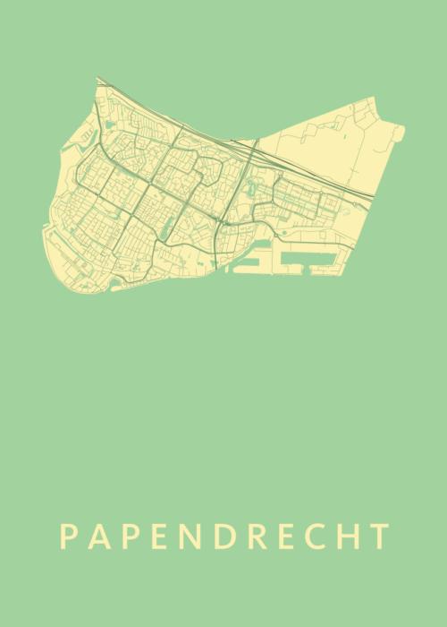 Papendrecht Spring Stadskaart Poster | Kunst in Kaart