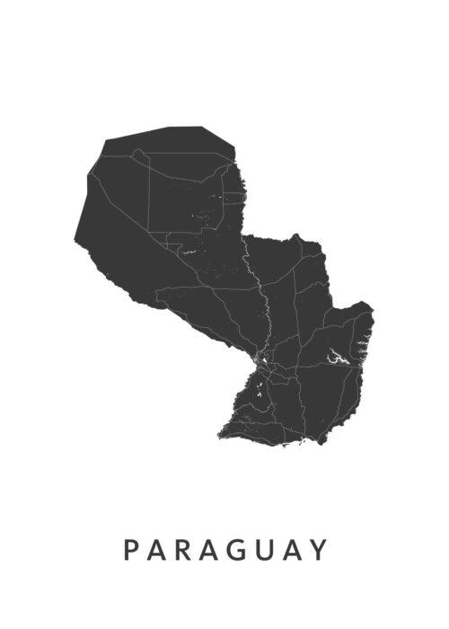 Paraguay Landkaart