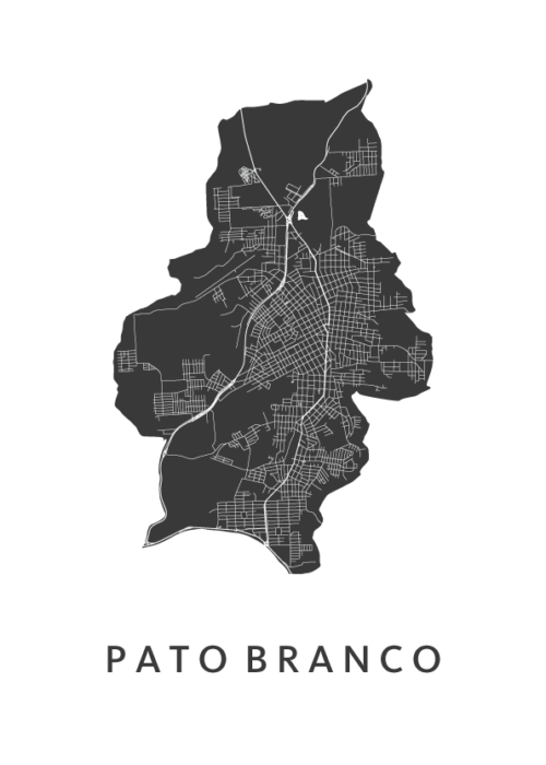 Pato Branco White City Map