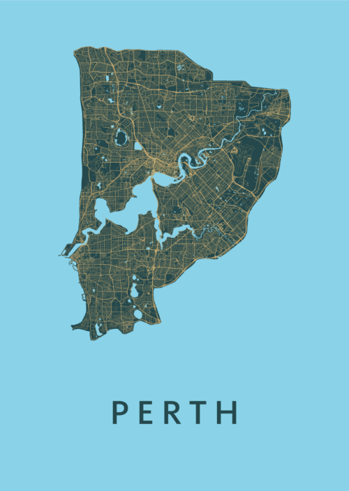Perth Azure City Map
