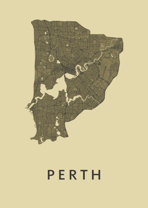 Perth GoldenRod City Map