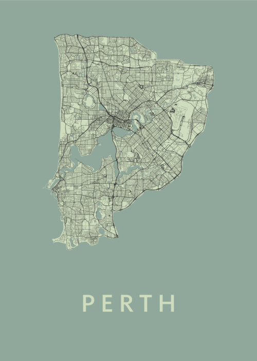 Perth Olive City Map