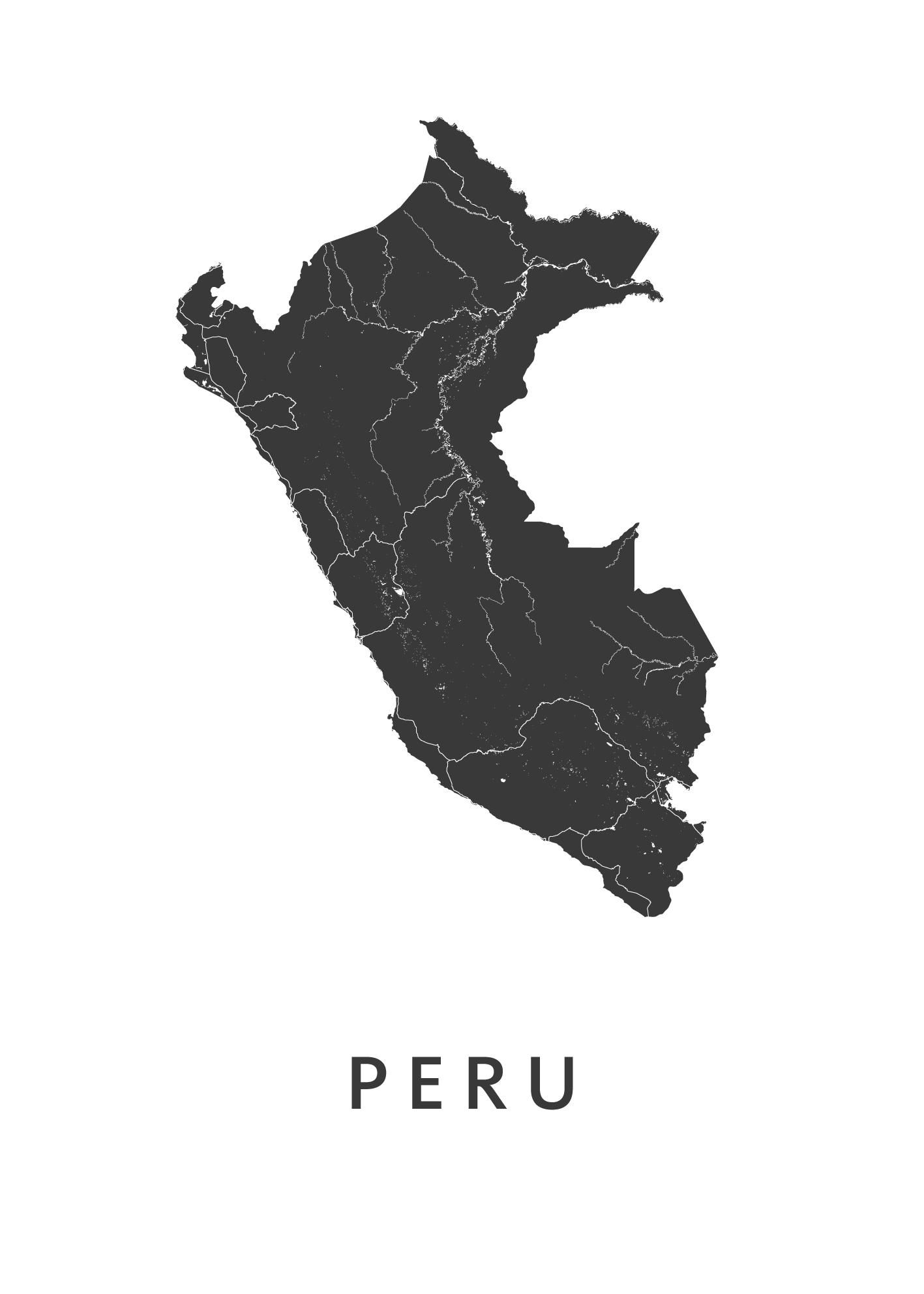 Peru Landkaart