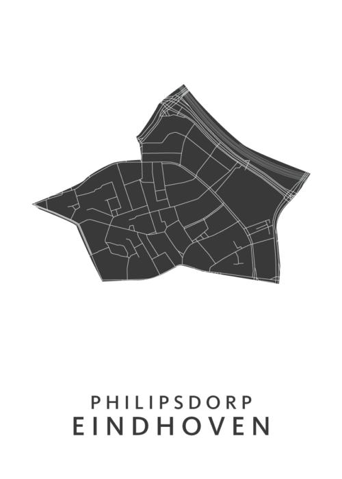 Eindhoven - Philipsdorp White Wijk Map