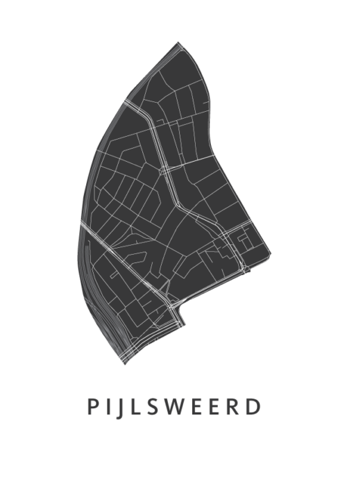 Utrecht - Pijlsweerd Wijkkaart - wit