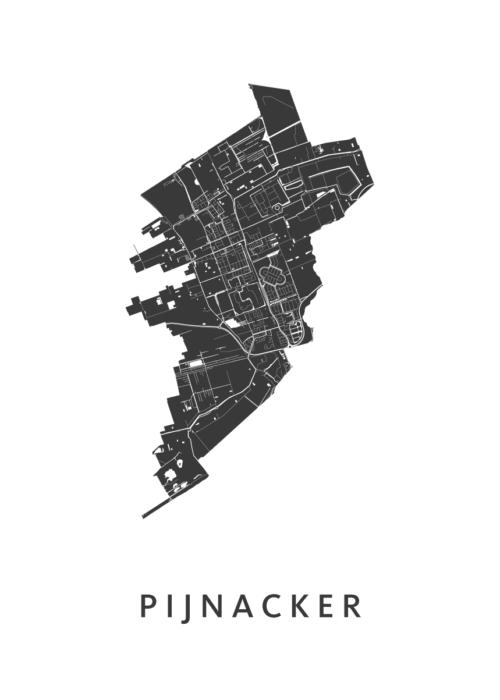 Pijnacker Stadskaart poster | Kunst in Kaart