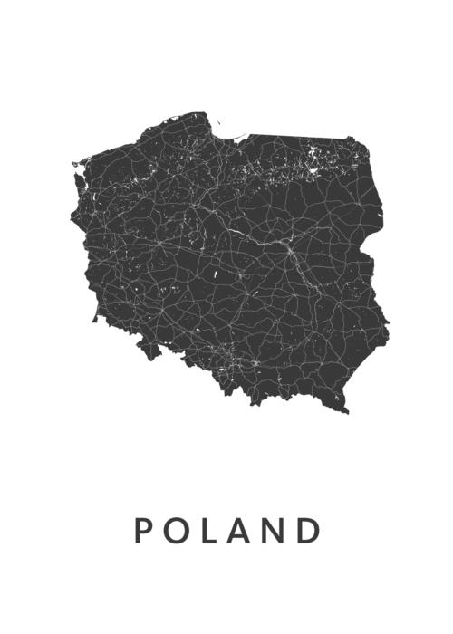 Poland Landkaart