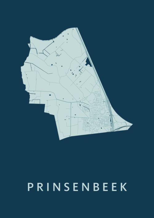 Prinsenbeek Feldgrau Stadskaart Poster | Kunst in Kaart