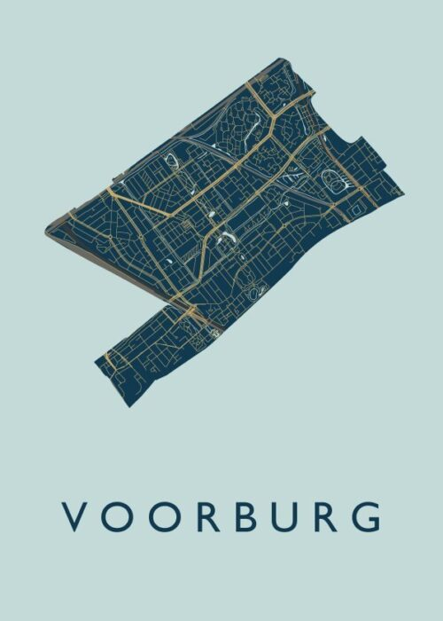 Voorburg Prussian Stadskaart Poster | Kunst in Kaart