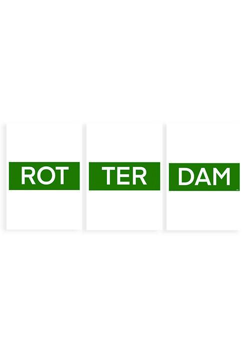 ROT TER DAM Rotterdam tekst poster
