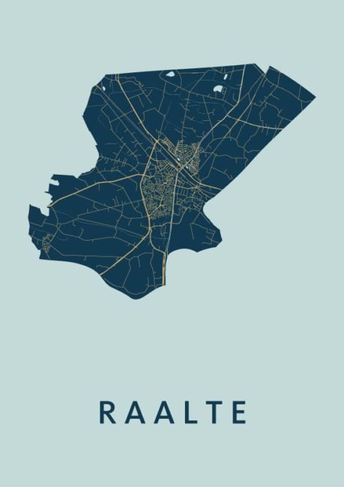 Raalte Prussian City Map