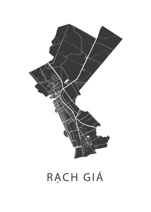 Rạch Giá Stadskaart poster | Kunst in Kaart