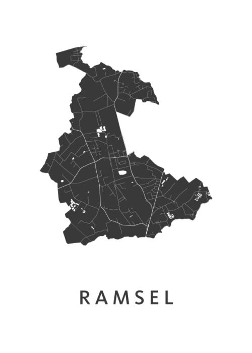Ramsel Stadskaart - Wit | Kunst in Kaart