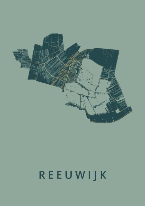 Reeuwijk Amazon Stadskaart Poster | Kunst in Kaart