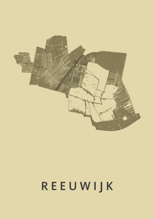 Reeuwijk GoldenRod Stadskaart Poster | Kunst in Kaart