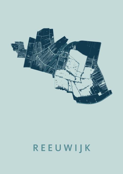 Reeuwijk Mint Stadskaart Poster   Kunst in Kaart