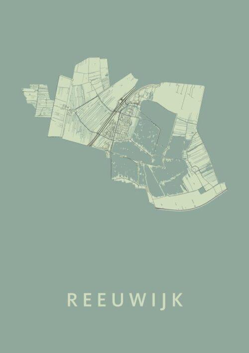 Reeuwijk Olive Stadskaart Poster | Kunst in Kaart