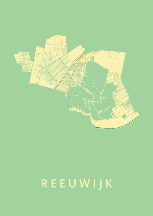Reeuwijk Spring Stadskaart Poster | Kunst in Kaart