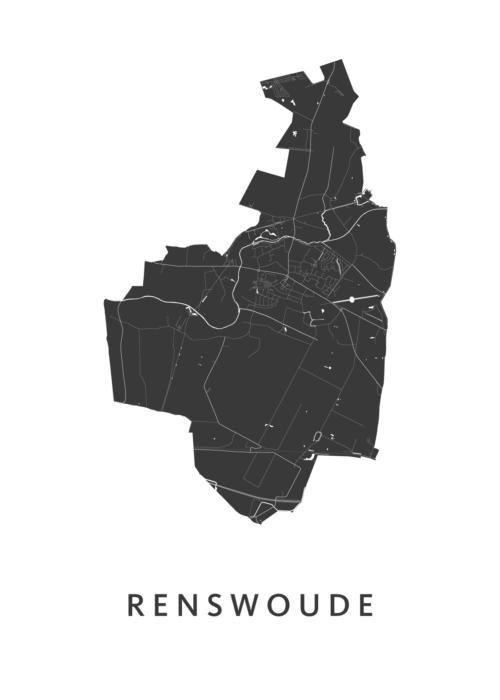 Renswoude Stadskaart - White