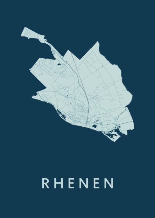 Rhenen Feldgrau Stadskaart Poster | Kunst in Kaart
