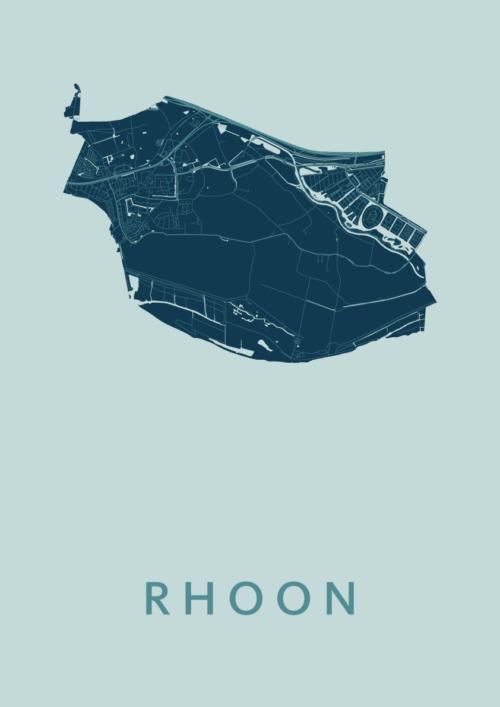 Rhoon Mint Stadskaart Poster | Kunst in Kaart