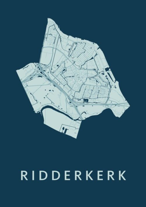 Ridderkerk Feldgrau Stadskaart Poster | Kunst in Kaart