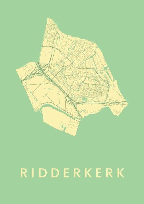 Ridderkerk Spring Stadskaart Poster | Kunst in Kaart
