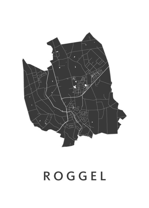 Roggel Stadskaart - White