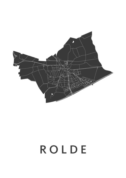 Rolde_White_A3 stadskaart poster