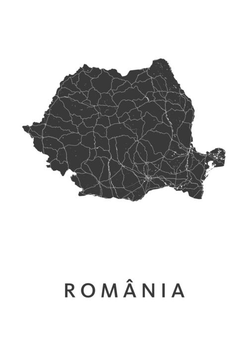 Romania Landkaart