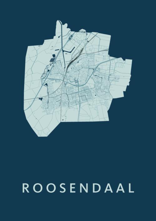 Roosendaal Feldgrau Stadskaart Poster   Kunst in Kaart