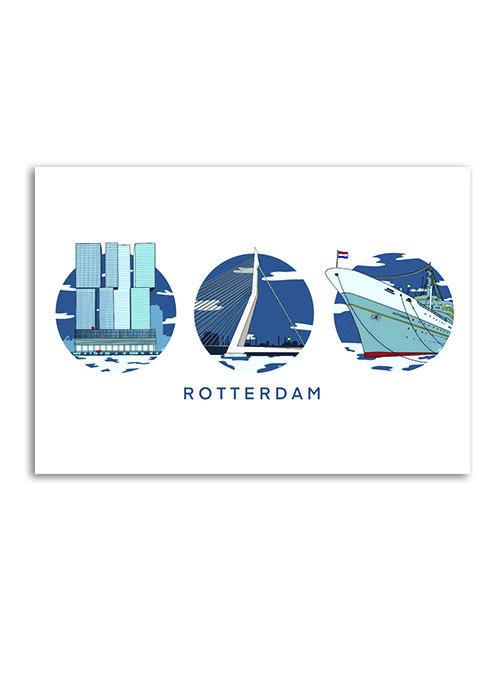 Rotterdam Moderne mix - Poster