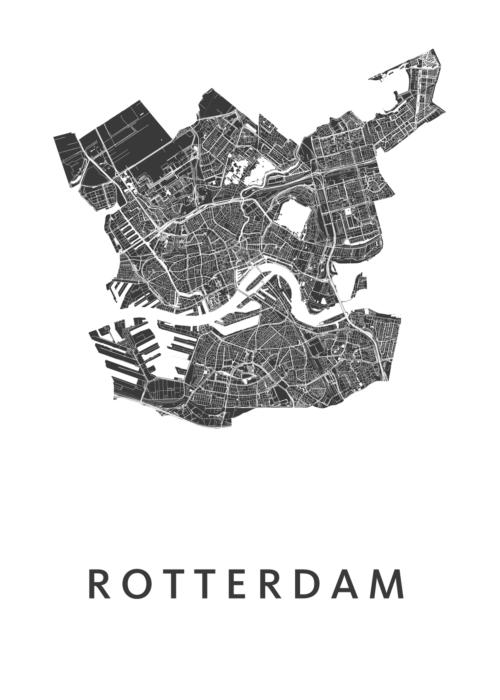 Rotterdam stadskaart poster