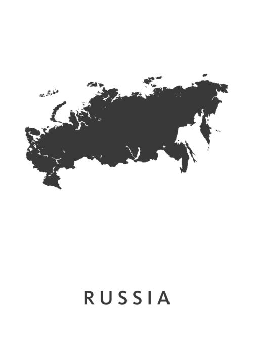 Russia Landkaart