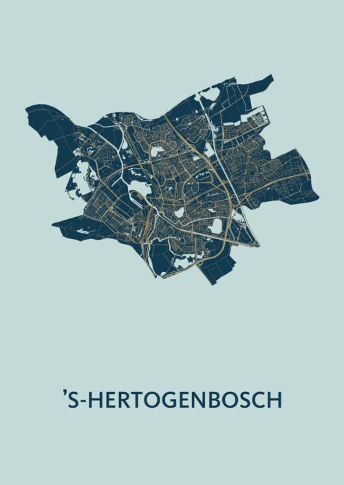 's-Hertogenbosch stadskaart poster