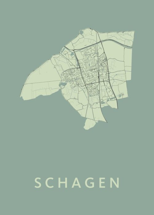 Schagen Prussian Stadskaart Poster | Kunst in Kaart