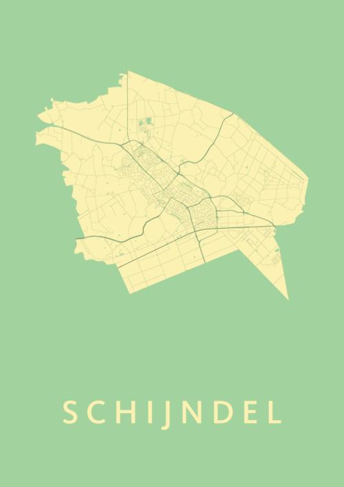 Schijndel Spring Stadskaart Poster | Kunst in Kaart
