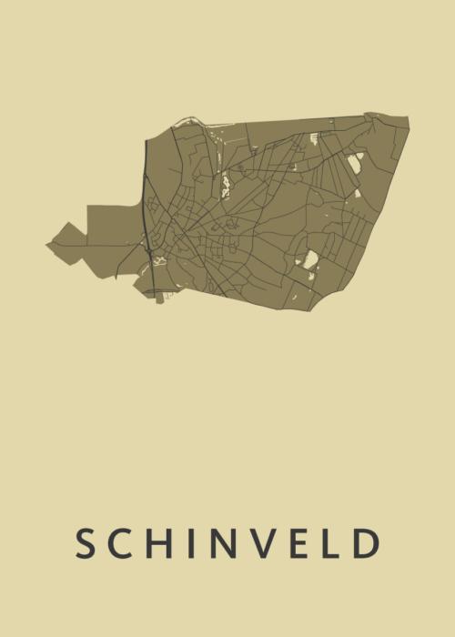 Schinveld GoldenRod Stadskaart Poster | Kunst in Kaart
