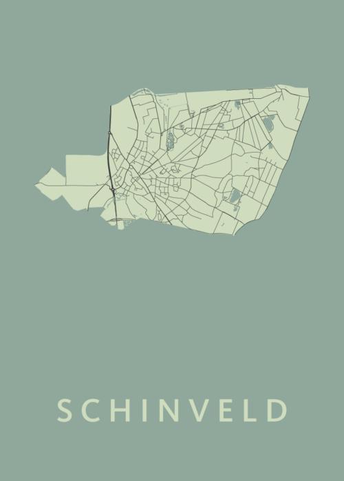 Schinveld Olive Stadskaart Poster | Kunst in Kaart