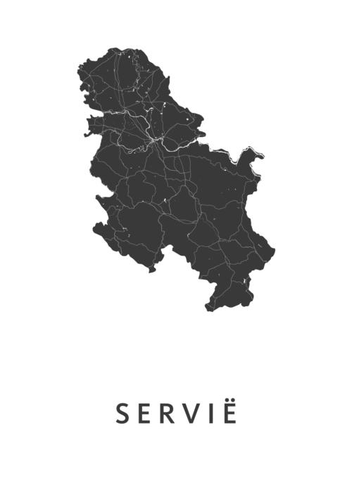 Servië Landkaart